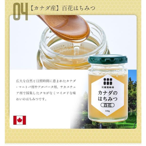 はちみつ 蜂蜜 低温加熱 瓶詰 140g × 4本 ハチミツ アカシア 百花 ライチ コーヒー セット プレゼント 2020|wide|08
