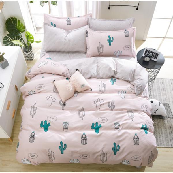 シングル サイズ ベッド シーツ 枕カバー 三点 3点セット フラミンゴ サボテン モンステラ ユニコーン 鹿 北欧 柄 ベットフラット 布団カバー 枕カバーセット|wigggy|14