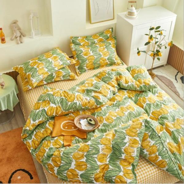 シングル サイズ ベッド シーツ 枕カバー 三点 3点セット フラミンゴ サボテン モンステラ ユニコーン 鹿 北欧 柄 ベットフラット 布団カバー 枕カバーセット|wigggy|04