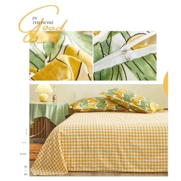 シングル サイズ ベッド シーツ 枕カバー 三点 3点セット フラミンゴ サボテン モンステラ ユニコーン 鹿 北欧 柄 ベットフラット 布団カバー 枕カバーセット|wigggy|05