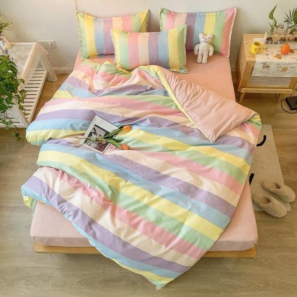 シングル サイズ ベッド シーツ 枕カバー 三点 3点セット フラミンゴ サボテン モンステラ ユニコーン 鹿 北欧 柄 ベットフラット 布団カバー 枕カバーセット|wigggy|10