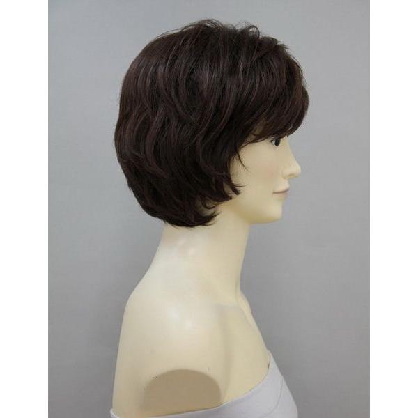 人毛ミックスウィッグ 医療用 人毛+耐熱 高品質 フルウィッグ ショート かつら レビューでプレゼント HHB-013