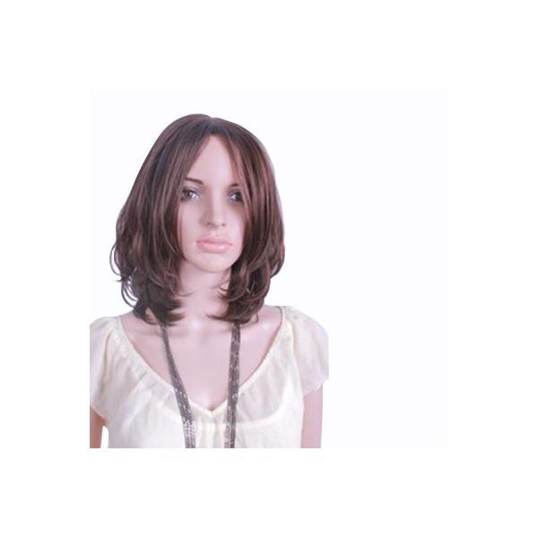 【私元気】◆女の美を表現!◆   人毛手植 セミロング ウィッグ (M16A99JHH)オーダーメイド!ネット付き