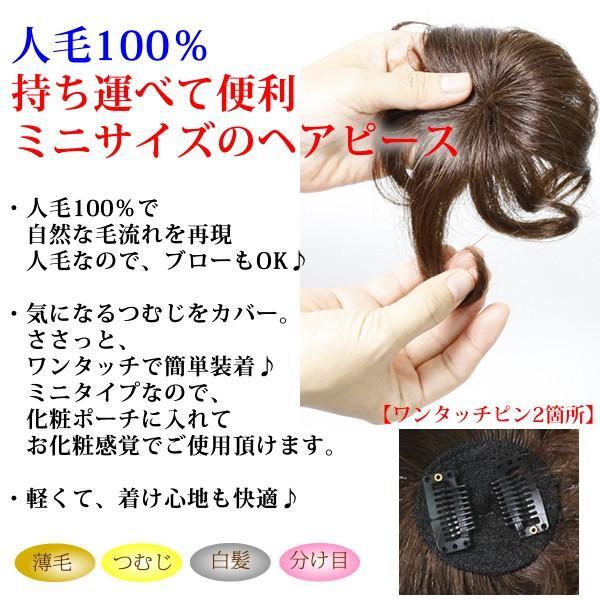 ウィッグ ヘアピース  人毛100% 円形脱毛症 部分ウィッグ かつら 送料無料 つむじ カバー 5009-curl|wigwigrunes|02