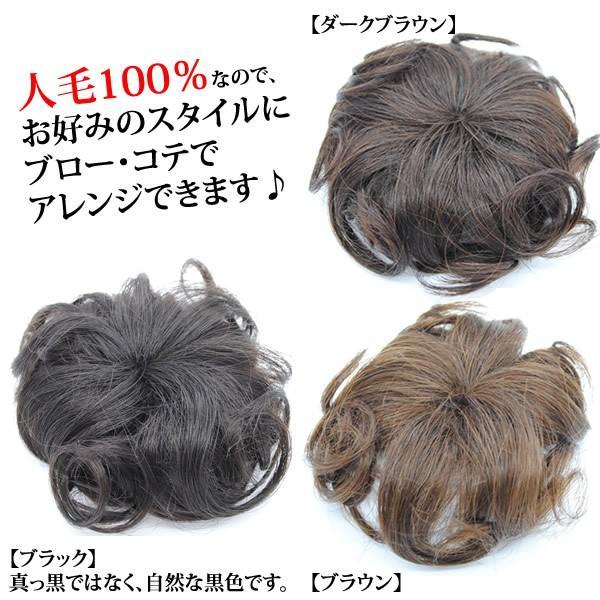 ウィッグ ヘアピース  人毛100% 円形脱毛症 部分ウィッグ かつら 送料無料 つむじ カバー 5009-curl|wigwigrunes|05