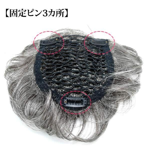 ウィッグ 白髪 しらが ヘアピース ミセス かつら 部分ウィッグ 送料無料 ふんわりボリューム tp6415|wigwigrunes|05