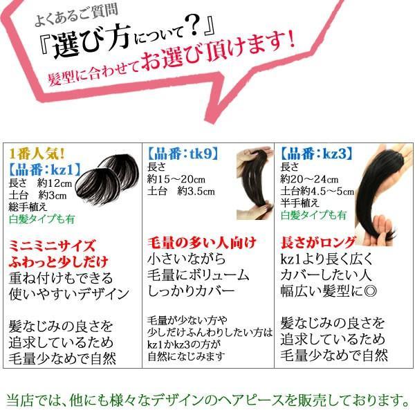 ウィッグ ヘアピース  人毛100% 円形脱毛症 部分ウィッグ かつら 送料無料 メッシュ kz1|wigwigrunes|09