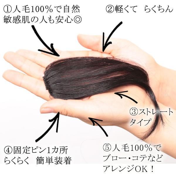 ウィッグ 前髪 前髪ウィッグ ヘアピース  人毛100% 部分ウィッグ かつら まえがみ kz2