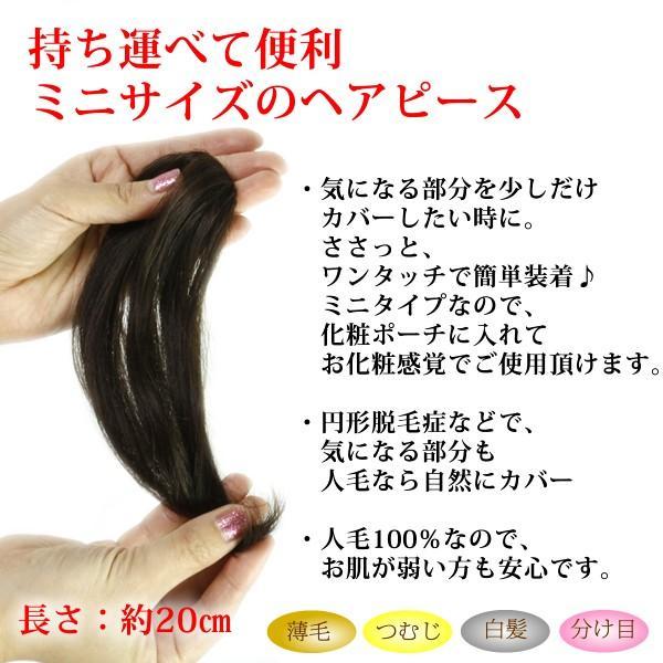 ウィッグ ヘアピース  人毛100% 円形脱毛症 部分ウィッグ かつら 送料無料 増毛 tk9|wigwigrunes|02