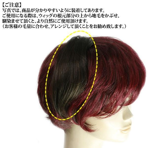 ウィッグ ヘアピース  人毛100% 円形脱毛症 部分ウィッグ かつら 送料無料 増毛 tk9|wigwigrunes|03