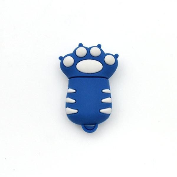 おもしろUSBメモリ16GB!トラの手(青) USBメモリ|wil-mart