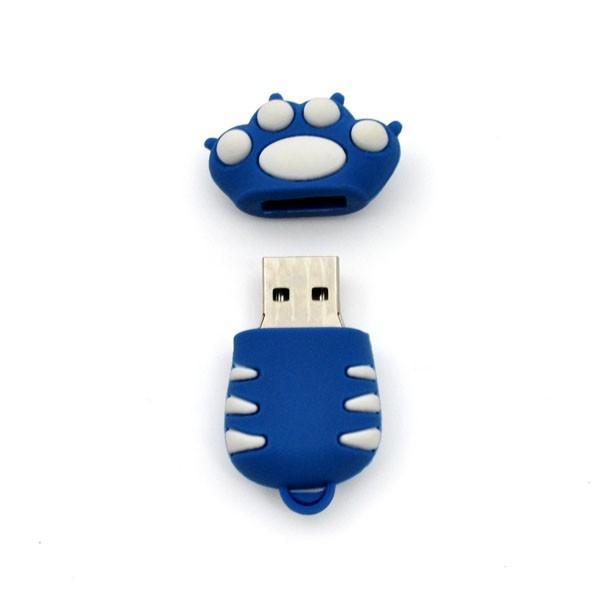 おもしろUSBメモリ16GB!トラの手(青) USBメモリ|wil-mart|02