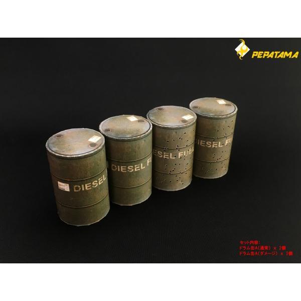 PEPATAMAシリーズ S-002 ペーパージオラマ ドラム缶A 1/12|wild