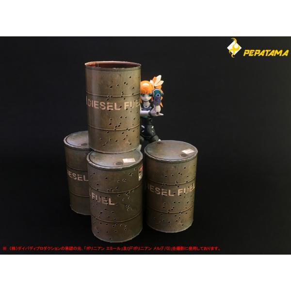 PEPATAMAシリーズ S-002 ペーパージオラマ ドラム缶A 1/12|wild|05
