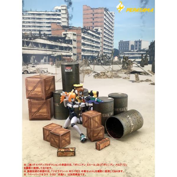 PEPATAMAシリーズ S-002 ペーパージオラマ ドラム缶A 1/12|wild|09