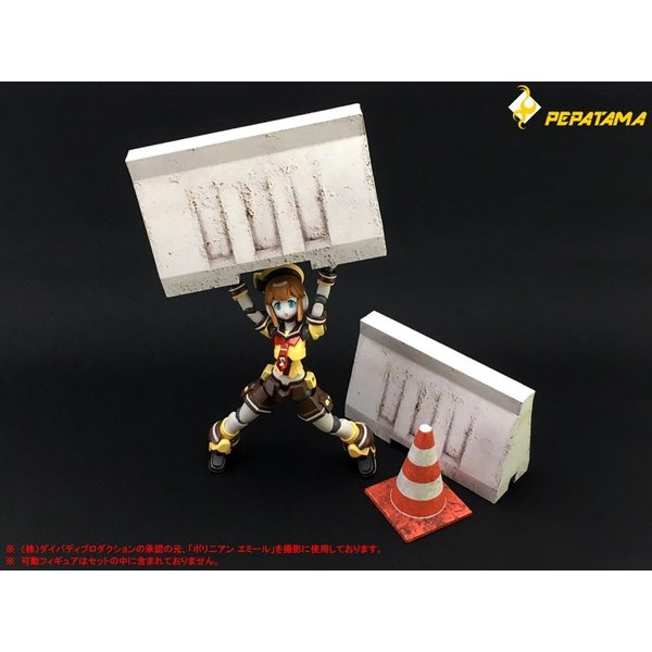 PEPATAMAシリーズ ペーパージオラマ S-003 バリケードA コンクリート 1/12|wild|02