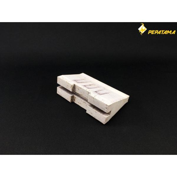 PEPATAMAシリーズ ペーパージオラマ S-003 バリケードA コンクリート 1/12|wild|03