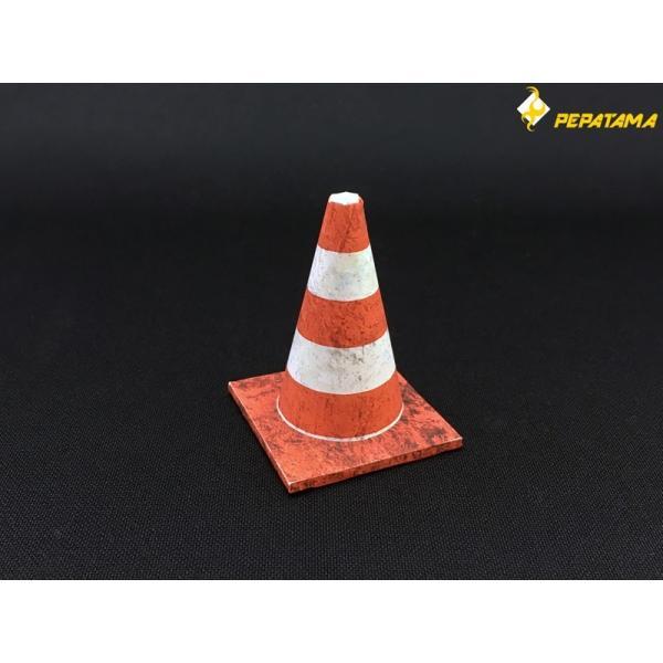 PEPATAMAシリーズ ペーパージオラマ S-003 バリケードA コンクリート 1/12|wild|04