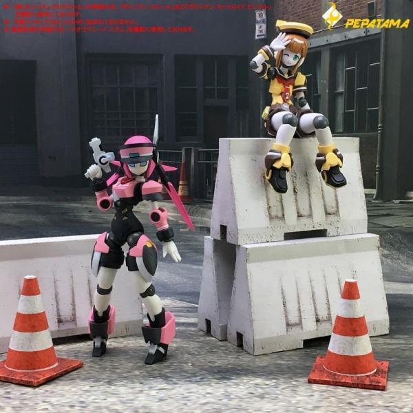 PEPATAMAシリーズ ペーパージオラマ S-003 バリケードA コンクリート 1/12|wild|07