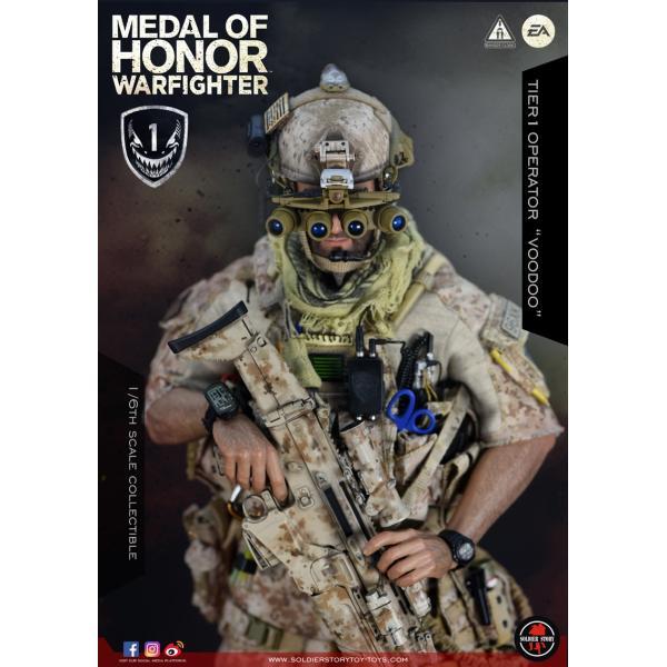 Soldier Story SS106 1/6スケール可動フィギュア メダル・オブ・オナー ウォーファイター ネイビーシールズ ブードゥー|wild|05