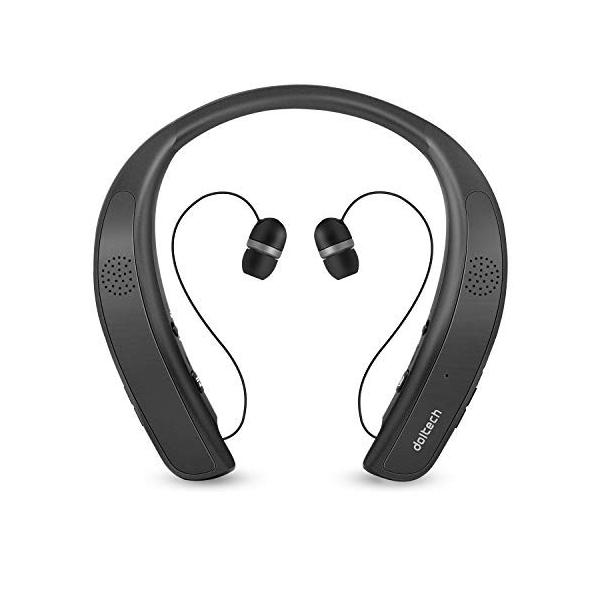 ネックバンドスピーカー ワイヤレス Bluetoothイヤホン2 in 1 ウェアラブル/10時間連続使用/Bluetooth4.1搭載/伸