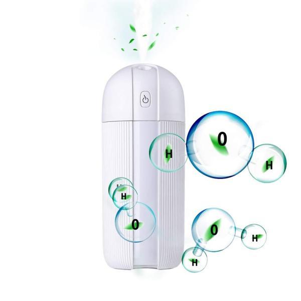 加湿器 Mistart 卓上 アロマ 超音波加湿器 車用加湿器 電気スタンド&扇風機機能付き LEDライト 12時間連続加湿 空気浄化機 空