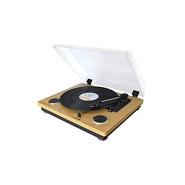 WINTECH レコードプレーヤー USB端子 スピーカー内蔵 KRP-206S