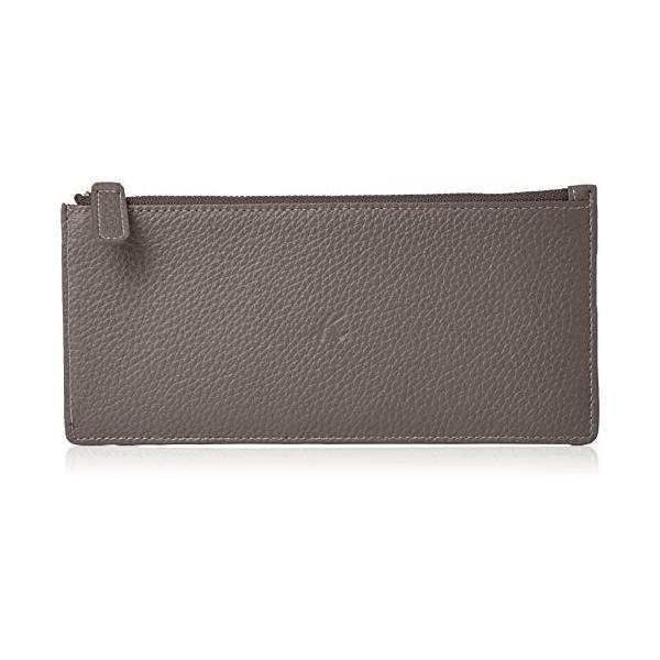 キタムラ長財布キズが目立ちにくいシュリンクレザーZH0422グレー80801