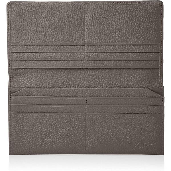 キタムラ長財布(札入れ)キズが目立ちにくいシュリンクレザーZH0421グレー80801