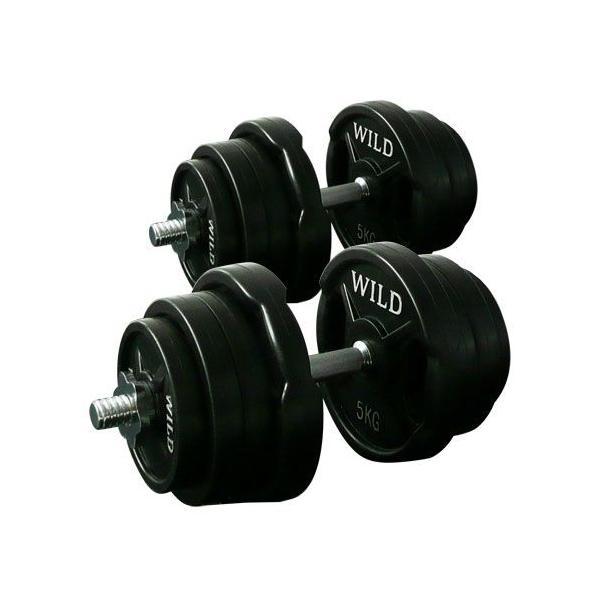 ダンベルセット 50kg 黒ラバー / 筋トレ ベンチプレス バーベル トレーニング器具 腹筋 フラットベンチ ダンベル