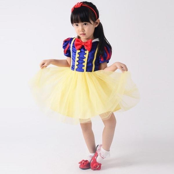 1066f23e42534 ... クリスマス ハロウィン 衣装 子供 ジュニア 女の子 コスプレ 白雪姫 プリンセス ドレス キッズ コスチューム 変装 仮装 服 セット