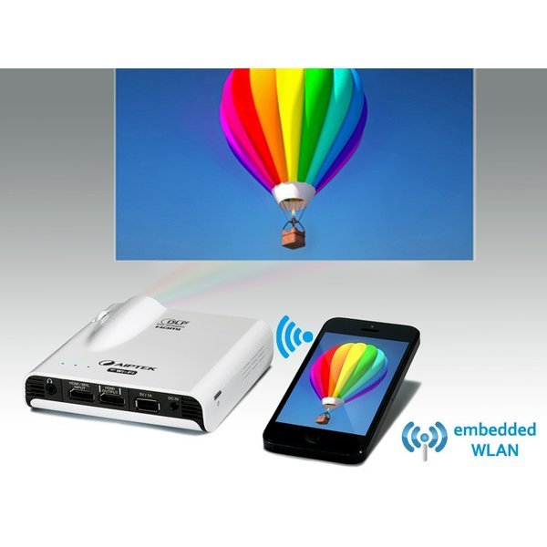 AIPTEK Wi-Fi プロジェクター Pocket Cinema A100W Miracast Airplay 対応 最大120インチ|will-be-mart|02