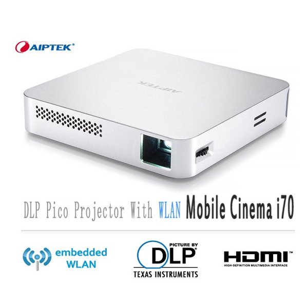 AIPTEK Wi-Fi プロジェクター Mobile Cinema i70 Miracast Airplay 対応 最大80インチ|will-be-mart