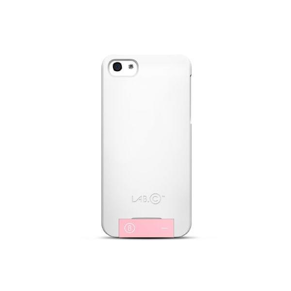 iPhone SE 5s/5 ケース LAB.C 105 USB Case iPhone5 USBメモリー8GB付 ホワイト/ピンク 保護フィルム、ホームボタンシール同梱|will-be-mart