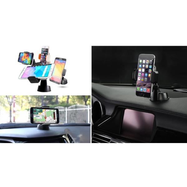 iPhone スマートフォン 用 車載 ホルダー Dash Crab Touch ブラック|will-be-mart|06