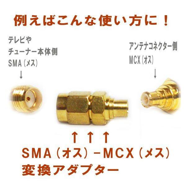 SMA オス →MCX メス  アンテナ変換アダプタ|will-be-mart|02