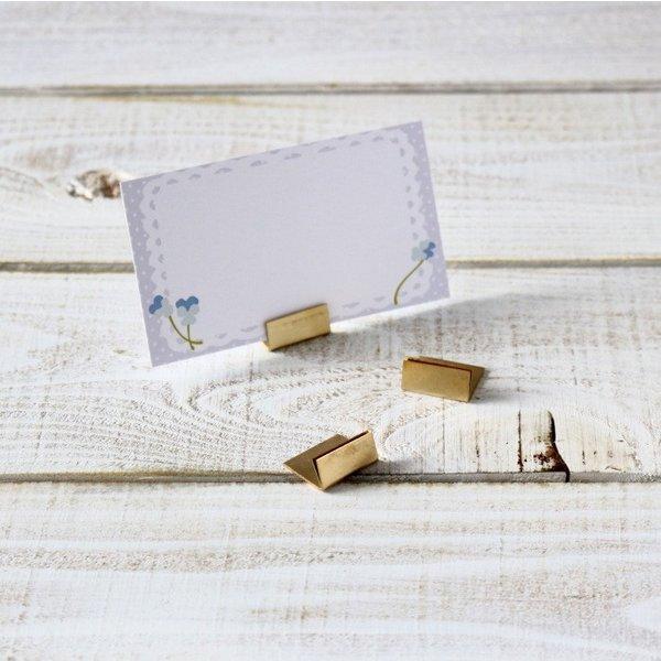 カードスタンド おしゃれ アンティーク ブラス 真鍮 20個セット カード立て 名刺スタンド メモスタンド プライスカード立て 文房具 生活雑貨 クリックポスト対応