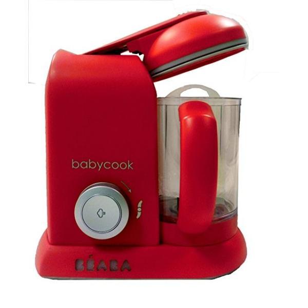 ベビー用品 BEABA Babycook 4 in 1 Steam Cooker and Blender 4.5 cups ベビーフードプロセッサー /レッド [並行輸入品]|willingness2017