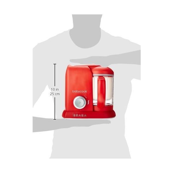 ベビー用品 BEABA Babycook 4 in 1 Steam Cooker and Blender 4.5 cups ベビーフードプロセッサー /レッド [並行輸入品]|willingness2017|03