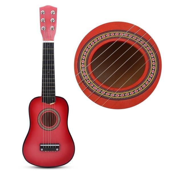 子供用 おもちゃ ギター 初心者モデル21インチ ミニギター 楽器 知育玩具 写真 撮影用 ギフト????(レッドブラウン)|willy-willy-zakka|04
