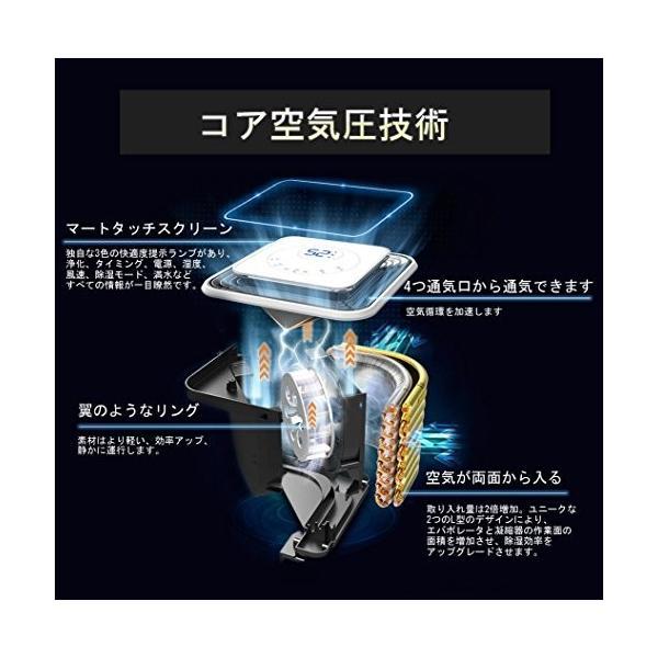ARTDOU コンプレッサー式除湿機 タッチスクリーン  除湿量~10L/~23畳 衣類乾燥 空気浄化 カビ防止 消臭