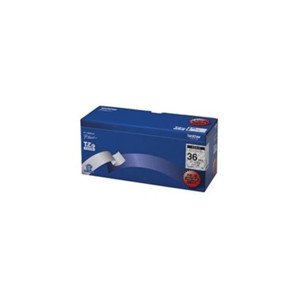 brother ブラザー工業 文字テープ/ラベルプリンター用テープ 〔幅:36mm〕 5個入り TZe-161V 透明に黒文字