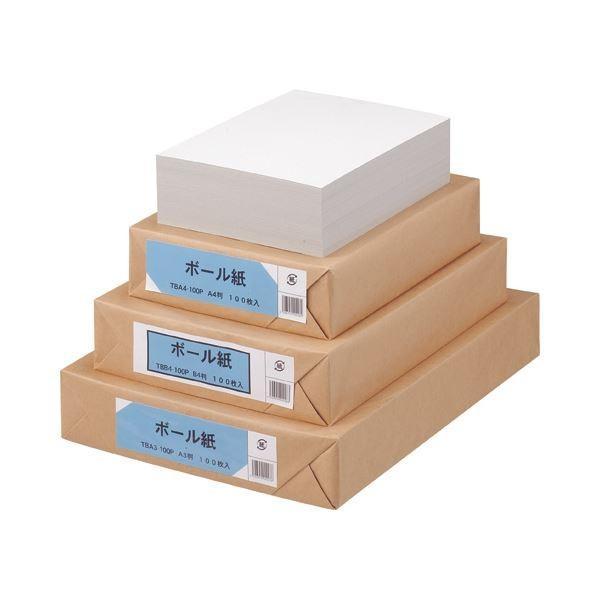 (まとめ) TANOSEE ボール紙 A4 1パック(100枚) 〔×4セット〕