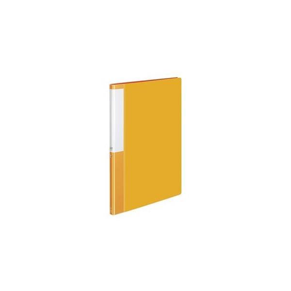 (まとめ) コクヨ クリヤーブック(クリアブック)(POSITY) 固定式 A4タテ 20ポケット 背幅15mm オレンジ P3ラ-L20NYR 1冊 〔×20セット〕