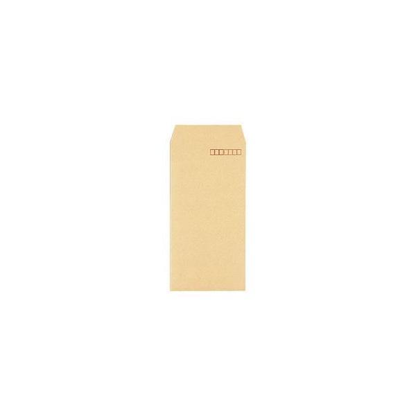 (まとめ) クラフト封筒 長形3号 スタンダード 〒枠あり 1パック(100枚) 〔×20セット〕