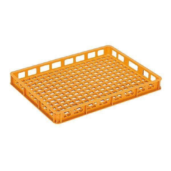 (まとめ)三甲(サンコー) 麺用コンテナボックス 〔加熱殺菌用〕 9型 オレンジ 〔×10セット〕〔代引不可〕