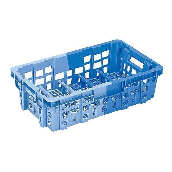 (まとめ)三甲(サンコー) ヨーグルトクレート/乳製品配送用コンテナ Z-10 ブルー×ライトブルー 〔×10セット〕〔代引不可〕