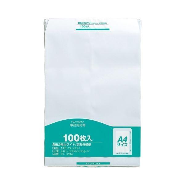 (まとめ)マルアイ 事務用封筒 PK-128W 角2 白 100枚〔×5セット〕