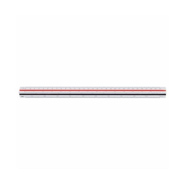 (まとめ) ライオン事務器 三角スケール 土木用300mm No.544 1個 〔×5セット〕