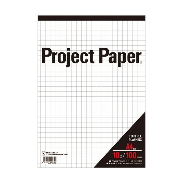 (まとめ) オキナ プロジェクトペーパー A4 10mm方眼 100枚 PPA40S 1冊 〔×30セット〕